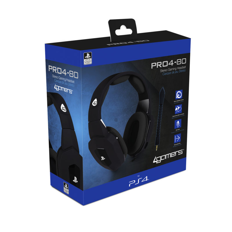 Buy 4Gamers PRO4 80 PS4 Headset Black